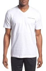 Under Armour Men's Charged Cotton Loose Fit V Neck Shirt White