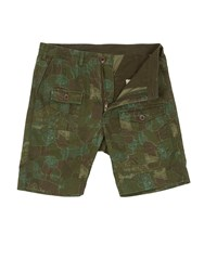 Realm And Empire Cotton Relaxed Fit Combat Shorts Military Green
