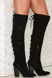 Right Back At You Lace Up Boot Black