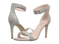 Kate Spade Isa Silver Natural Grid Lurex Women's Toe Open Shoes