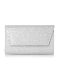 Linea Barklin Metal Detail Clutch Bag Silver