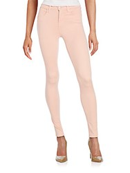 J Brand Maria High Rise Skinny Jeans Pink Lace