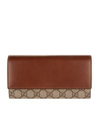 Gucci Gg Supreme Canvas Continental Wallet Female Beige