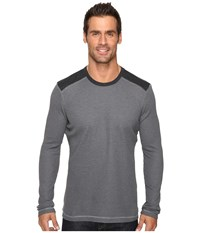 Ecoths Aaron Long Sleeve Pullover Ash Men's Long Sleeve Pullover Gray