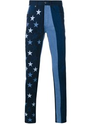 Givenchy Stars And Stripes Jeans Blue