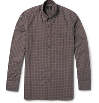 Alfred Dunhill Billy Check Cotton Shirt Brown