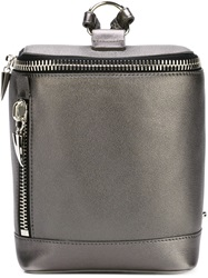 Giuseppe Zanotti Design Rectangular Backpack Metallic