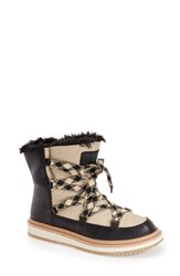 Women's Kate Spade New York 'Samira' Boot Ivory Nubuck Leather