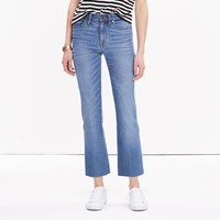 Madewell High Rise Crop Flare Jeans In Maribel Wash