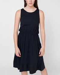 Beaumont Organic Black Logan Cotton And Linen Dress