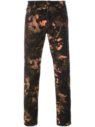 Versus Camouflage Lion Print Trousers Black
