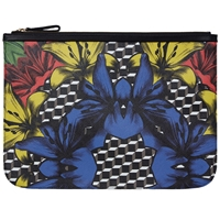 Pierre Hardy Canvas Lilly Cube Pouch Xl Black And Blue