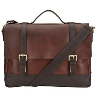 John Lewis And Co. Leather Satchel Brown