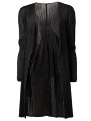 Issey Miyake Pleated Draped Cardigan Black