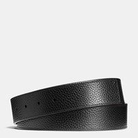 Coach Cut To Size Reversible Leather Belt Strap Black Dark Saddle