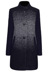 James Lakeland Herringbone Wool Coat Black Multi