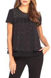 Women's Catherine Catherine Malandrino 'Ree' Embellished Layer Look Top