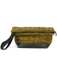 Marni Knitted 'Bundle' Clutch Yellow And Orange
