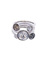 Ted Baker Jackie Silver Jewel Stack Ring N A N A