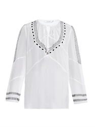 Altuzarra Torrin Embroidered Silk Top