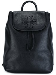 Tory Burch Logo Patch Backpack Black