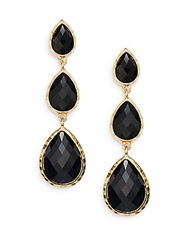 Amrita Singh Hamptons Tri Teardrop Earrings Black Gold