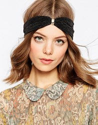 Asos Pleated Grecian Hair Turban Black