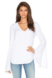 Wayf Bell Sleeve Blouse White