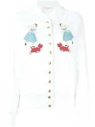 Olympia Le Tan Alice In Wonderland Patch Jacket White