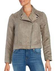 Bb Dakota Faux Sueded Motorcycle Jacket Tan