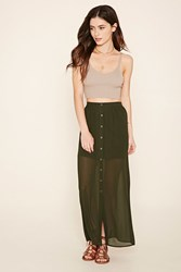 Forever 21 Semi Sheer Maxi Skirt