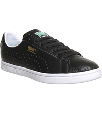 Puma Court Star Leather Trainers Nm Black Leather