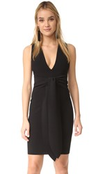 Bec And Bridge Montana Plunge Tie Dress Black