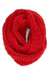 Women's Bp. Knit Infinity Scarf Red