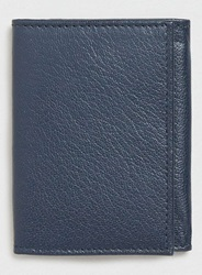 Topman Navy Leather Coin Wallet Blue
