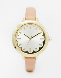 New Look Nude Skinny Strap Watch Pink
