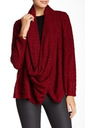Lulu Infinity Scarf Boucle Cardigan Red