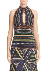 Missoni Women's Metallic Knit Keyhole Halter Top