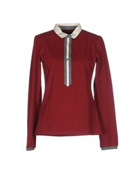 Etiqueta Negra Topwear Polo Shirts Women Brick Red