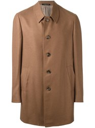 Corneliani Buttoned Coat Brown