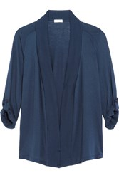 Splendid Micro Modal And Supima Cotton Blend Jersey Cardigan Storm Blue