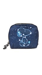 Le Sport Sac Peanuts X Lesportsac Square Cosmetic Case Snoopy Stars Sm