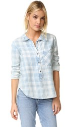 Bella Dahl Frayed Collar Shirt Raynes Wash