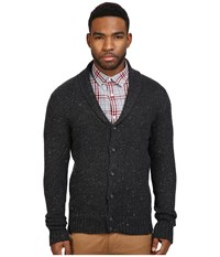 Original Penguin Shawl Collar Donegal Cardigan Dark Charcoal Heather Men's Sweater Black