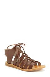 Hinge 'Roman' Strappy Lace Up Sandal Women Brown