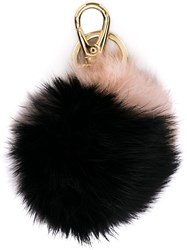 Salvatore Ferragamo Fur Keyring Grey