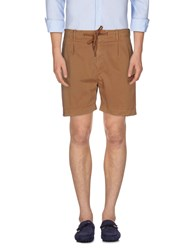 Pence Trousers Bermuda Shorts Men Camel