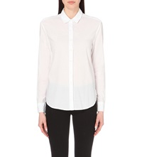 James Perse Classic Button Up Cotton Shirt White