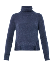 Band Of Outsiders Roll Neck Cropped Sweater
