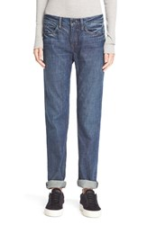Women's Helmut Lang Relaxed Rolled Jeans Dark Blue